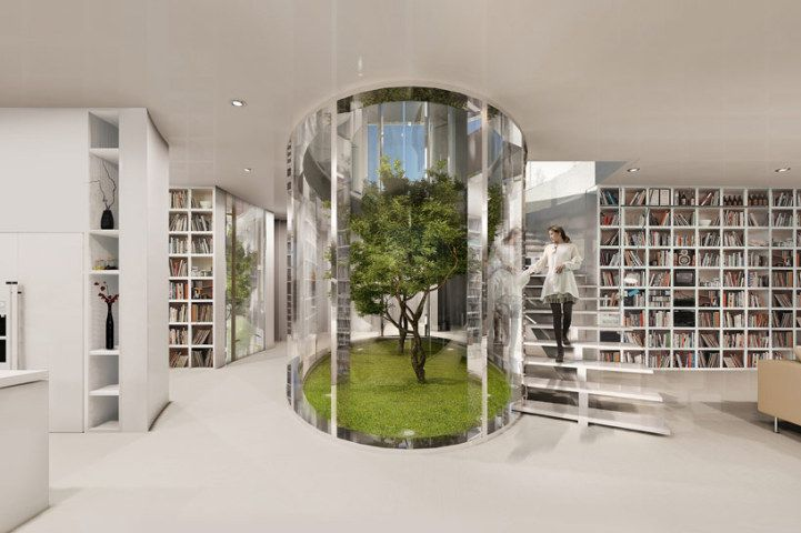 Living Trees Grow Inside Mansions Oval Atrium