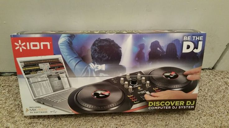 BE THE DJ discover computer system mixing ION scratch mixvibes software USB EUC #Ion