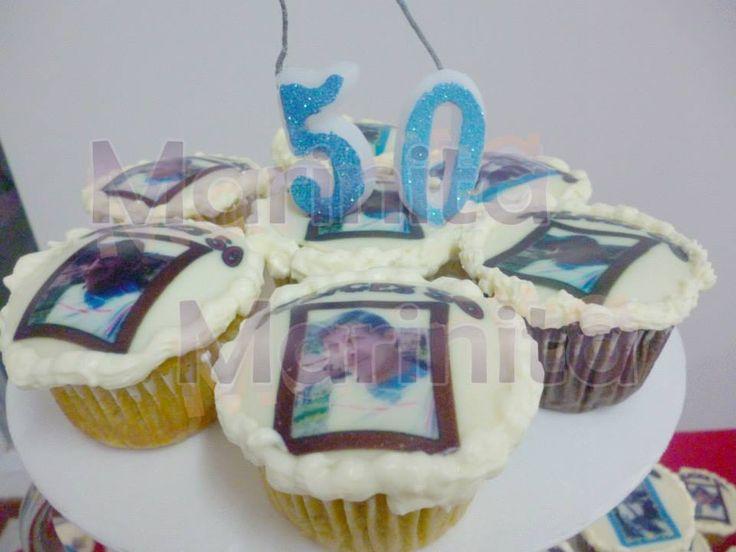 Cupcakes 50 años hombre con foto muy personalizado!