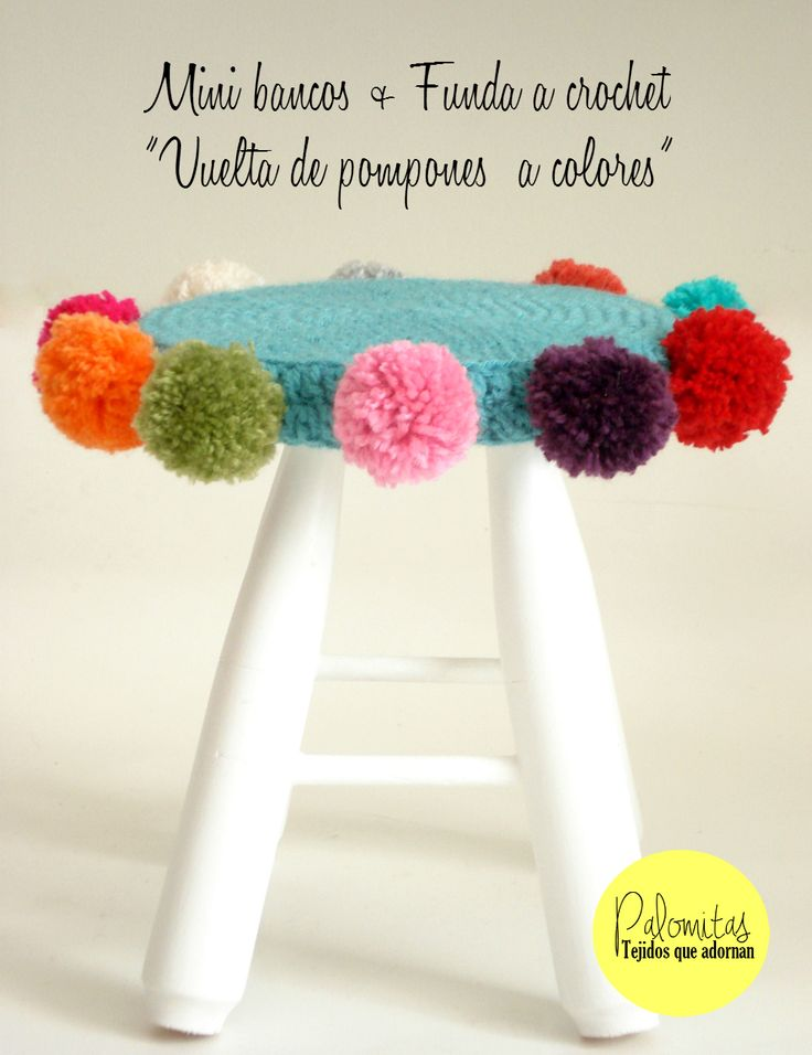 Mini banco con funda de Crochet