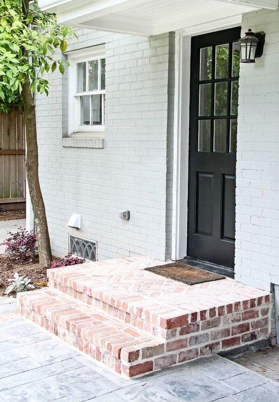 red brick entrance steps