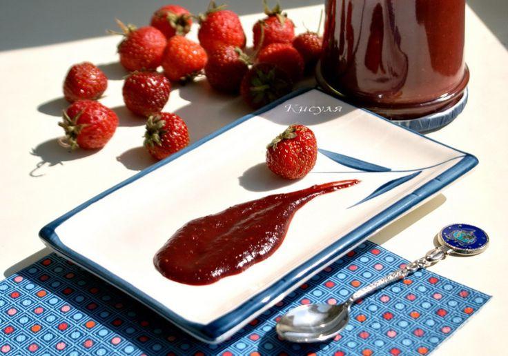 клубничный соус с чили и имбирём