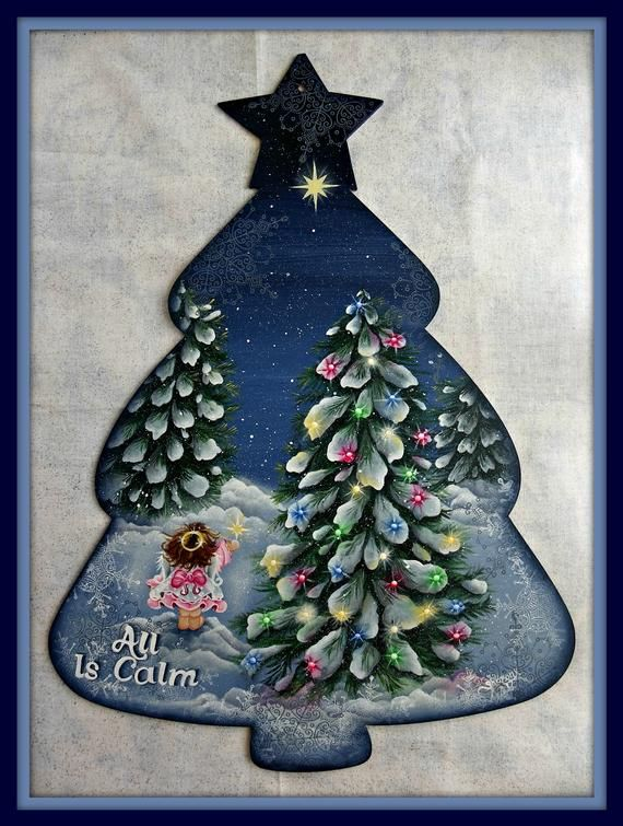 Epattern All Is Calm Painted Christmas Ornaments Painted Ornaments Christmas