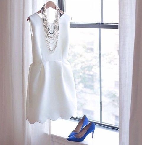 35 Stylish Bridal Shower Outfits For Brides | HappyWedd.com
