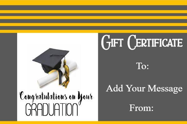 Graduation Gift Certificate Template Free Graduation Certificate Template Certificate Templates Unique Graduation Gifts