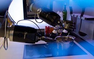 The Moley robot slaving over a hot stove.