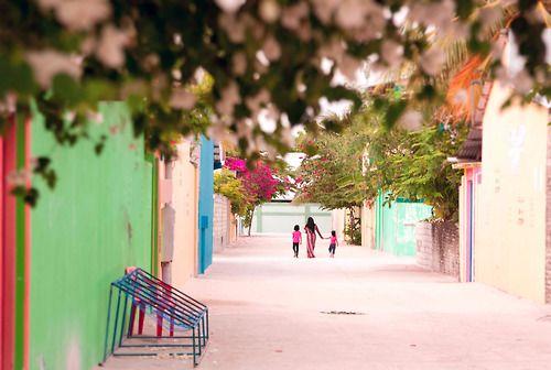 Maldives. Island Maafushi.
