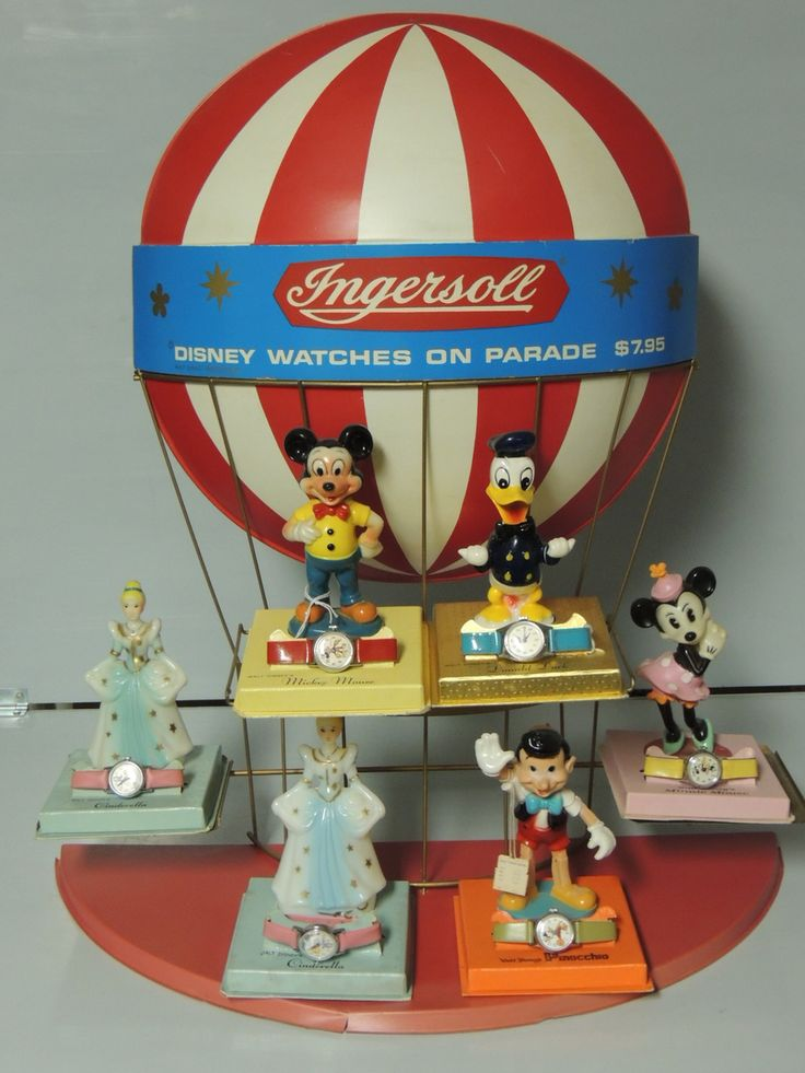 DISNEY INGERSOLL DISPLAY WITH WATCHES Vintage DisneyDisney MerchandiseStore