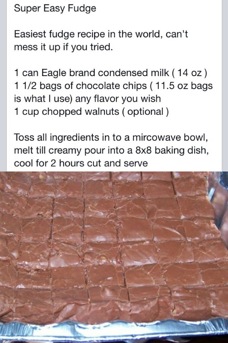 Easy Fudge Recipe With Chocolate Chips