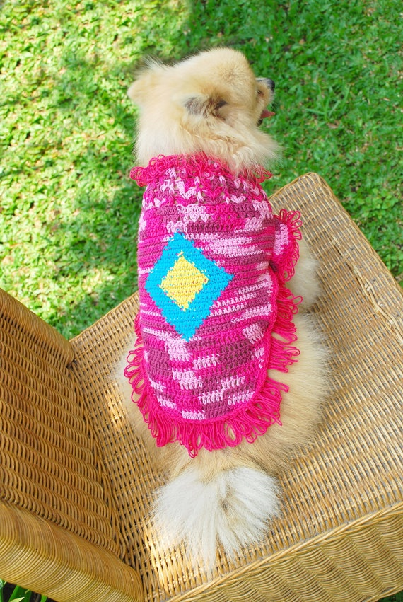 Hand Crocheted Designer Dog Dresses Chihuahua Clothes by myknitt, $25.00