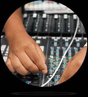 Audio Production student working