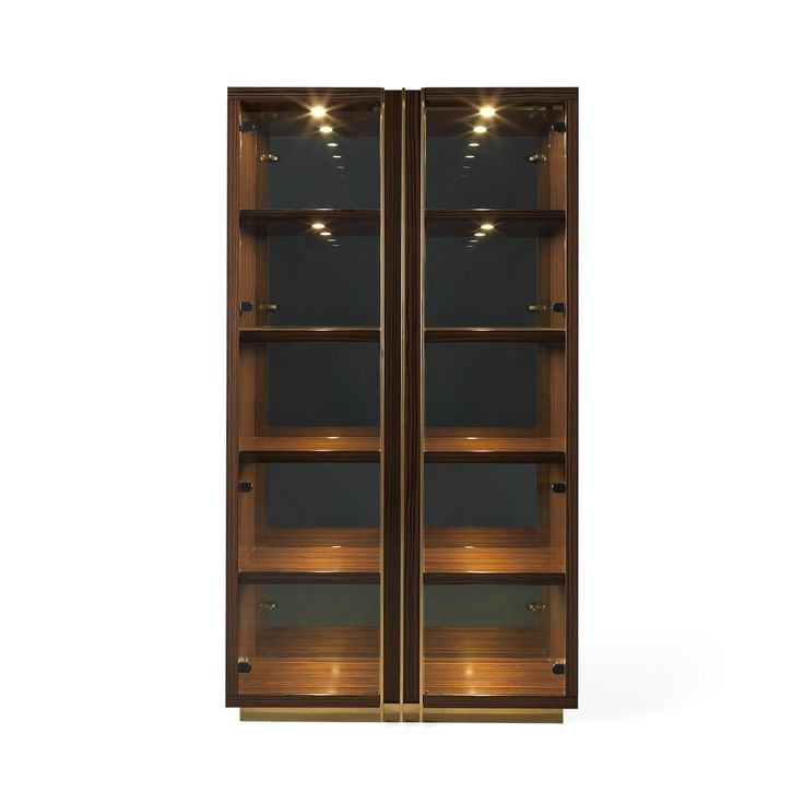 D'ARC Display Cabinet   Dining Room Decor   Laskasas   Decorate Your Life   Inspired by Joanna D'Arc, the great French warrior, D'Arc is a solid wood display cabinet with a clear glass front. All materials are customizable making it possible to fit any décor. A stunning interior design piece that can stand out in every interior design.   Visit www.laskasas.com and discover more mid-century modern cabinets for your dining room decor
