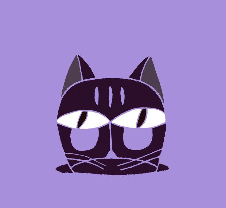 2-2015  cat facial design / illustration. wensi zhai