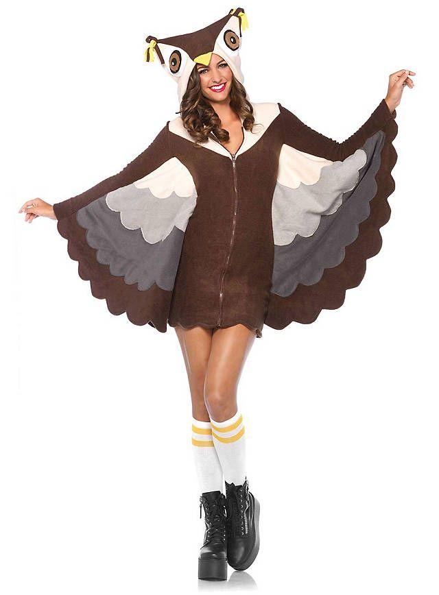 Eule Hoodie Dress von maskworld.com  #maskworld #eule #warm #fasching #karneval #hoodie