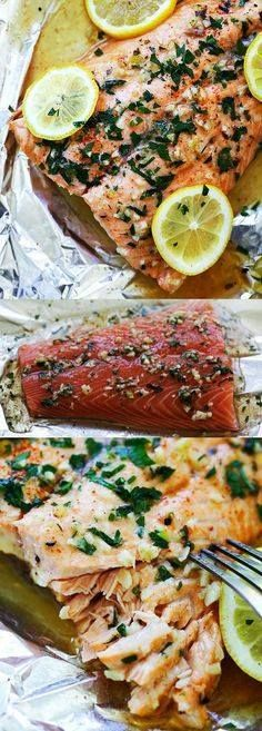 Garlic Lemon Butter Garlic Lemon Butter Salmon  the easiest...  Garlic Lemon Butter Garlic Lemon Butter Salmon  the easiest foil-wrapped salmon recipe ever with crazy delicious salmon in garlic lemon butter sauce. So good | rasamalaysia.com Recipe : http://ift.tt/1hGiZgA And @ItsNutella  http://ift.tt/2v8iUYW