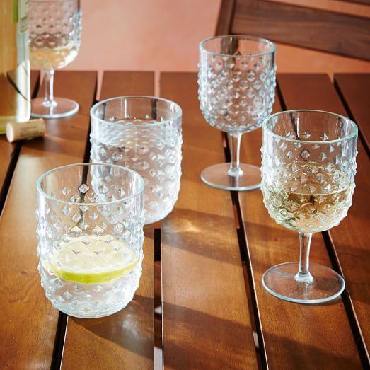 Hobnail Acrylic Drinkware   west elm
