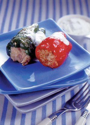 ピーマンの肉詰め サワークリーム添え | 大庭英子さんのレシピ ...