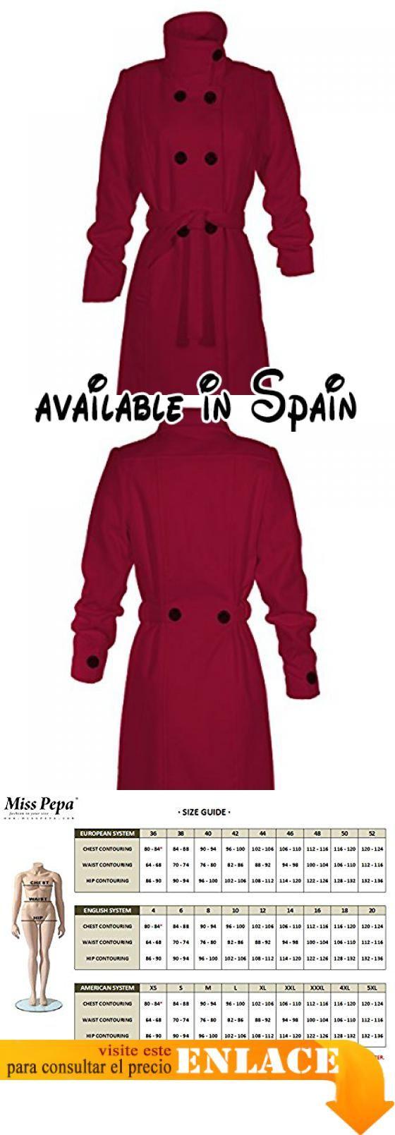 B06XCM3NL9 : Abrigo Rojo Cecil. Prenda juvenil y favorecedora. Tejido de tacto agradable. Fácil de lavar 30º. Plancha muy ligera. Amplio surtido de talla