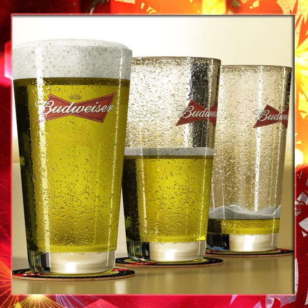 Budweiser Beer Glass 3D Model- Photorealistic and High Detailed Budweiser Pint of Beer and Coaster - 3 Models.      Formats :    Max2009 V-ray  Max2009 scanline  Obj  Fbx  3ds      *V-ray materials and default scanline materials included in all formats.      **************************************************************      -Model has real-world scale.    -Model is centered at 0,0,0.    -All object are named.    -All materials are named.    -No unnecessary objects.    -Model looks like the…
