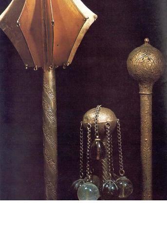 Ottoman maces, ca. 17th century. (Topkapi Saray Museum, Istanbul).