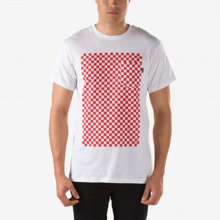 Vans White Checkerboard Pocket T-Shirt
