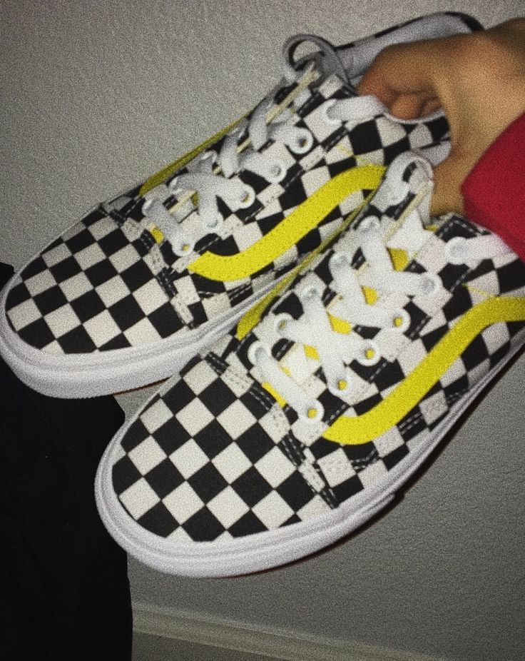 how to clean checkered vans