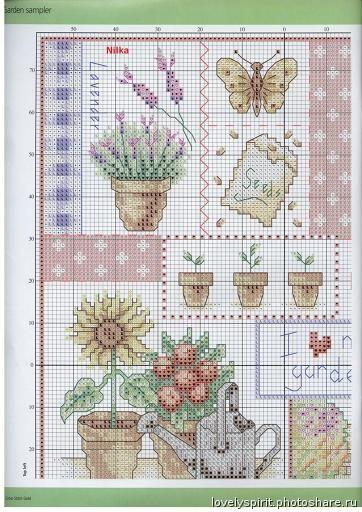 46 Cross Stitch Gold SUSAN BATES I love my garden