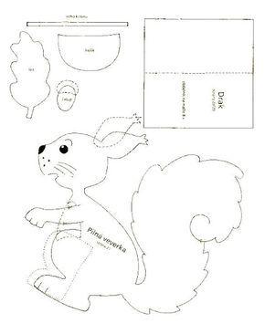 squirrel 1. - autumn paper craft pattern