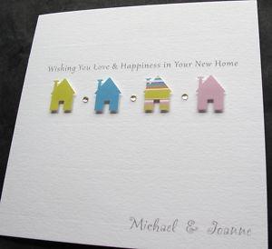 Handmade New Home Moving Change Address Good Luck Card | eBay