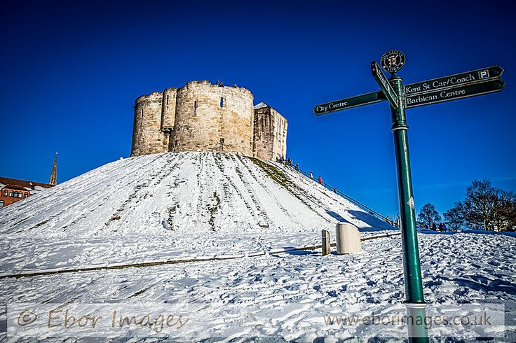 Cliffords Tower Snow - York  www.eborimages.co.uk
