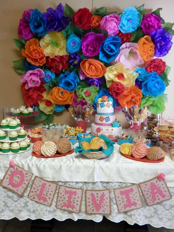 Last weekend was my sister's baby shower! We had a big family party to celebrate the parents-to-be and little baby Olivia. The party was Mexican themed with vibrant colors, handmade paper flo…