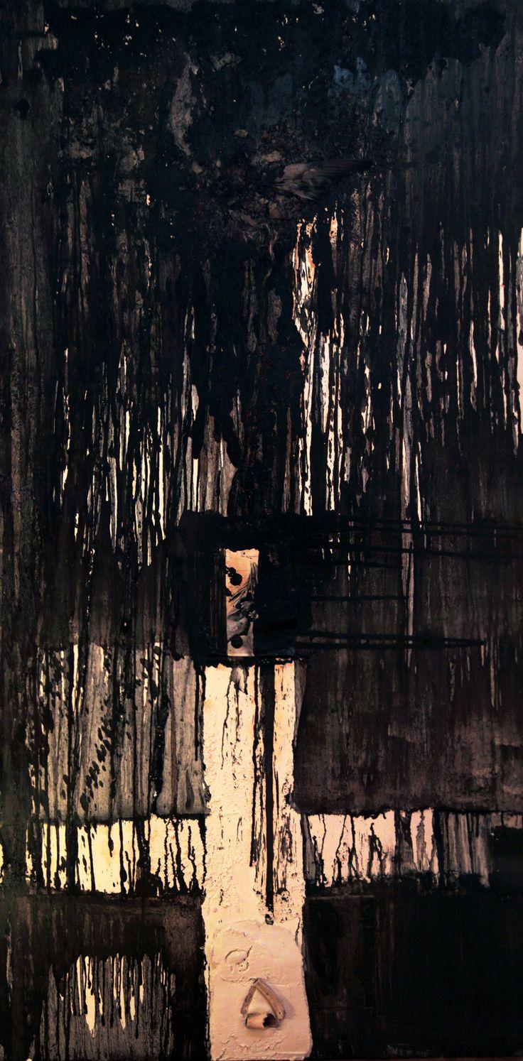 Pluto - 2m x 1m - Mixed media & Encaustic on wood.  www.vasilisangelopoulos.com