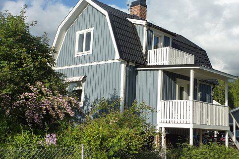 Bilder på vackra blå hus