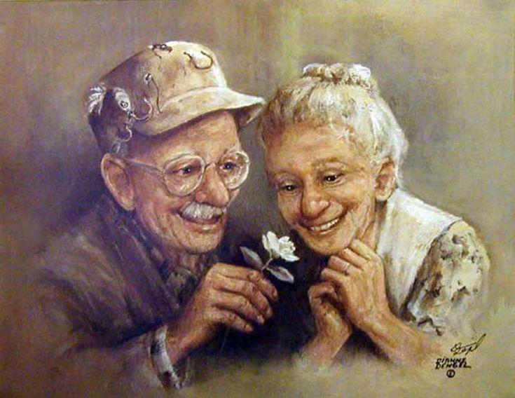 Рисунки стариков и старушек