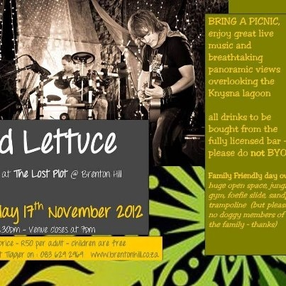 What a great show this was!  Looking forward to Wild Lettuce playing in Knysna again.