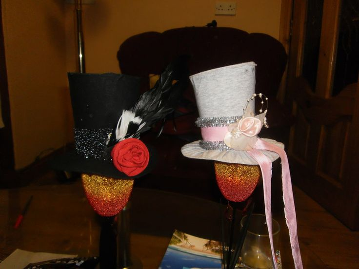 Mini top hats for college ball