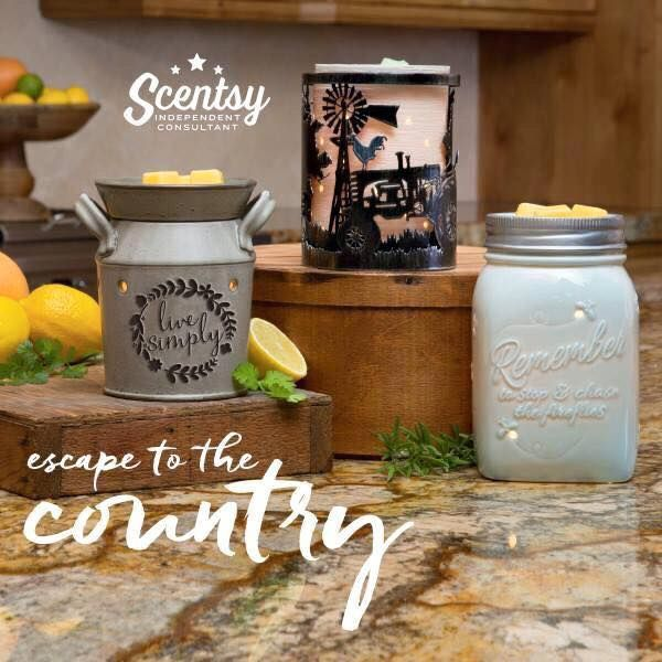 Country line at Scentsy?? Spring/summer 2016 message me for more info on the new catalog!