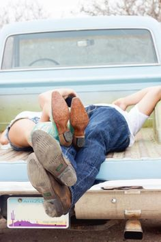 Country Couple Photography with Truck |