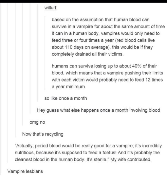 Period blood is not sterile.... someone lied to this guy's wife at some point and she bought it...