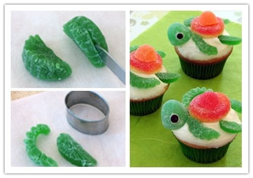 Crush Cup Cakes for Finding Nemo themed Movie Night