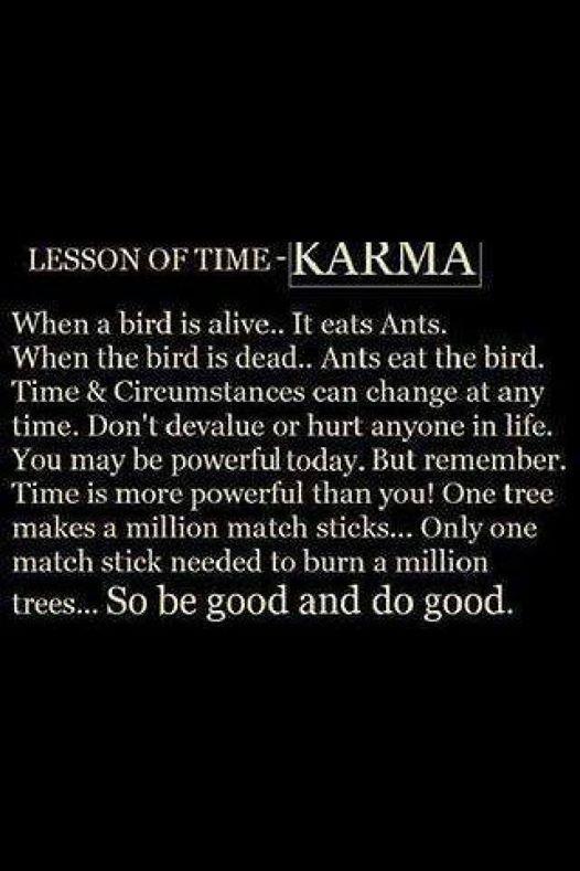 Karma is real!
