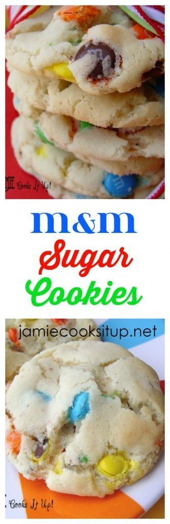 M and M Sugar Cookies from Jamie Cooks It Up!