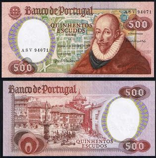 Notas de Portugal e Estrangeiro World Paper Money and Banknotes: Portugal 500$00 4-10-1979 - Pick 177