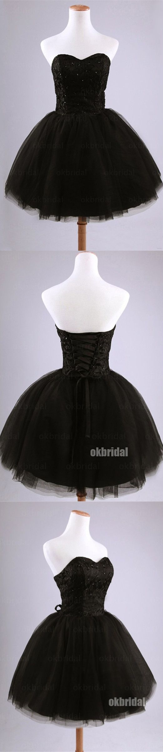 Black Homecoming dresses, junior homecoming dress, tulle homecoming dress, cheap homecoming dress, dresses for homecoming, 17608