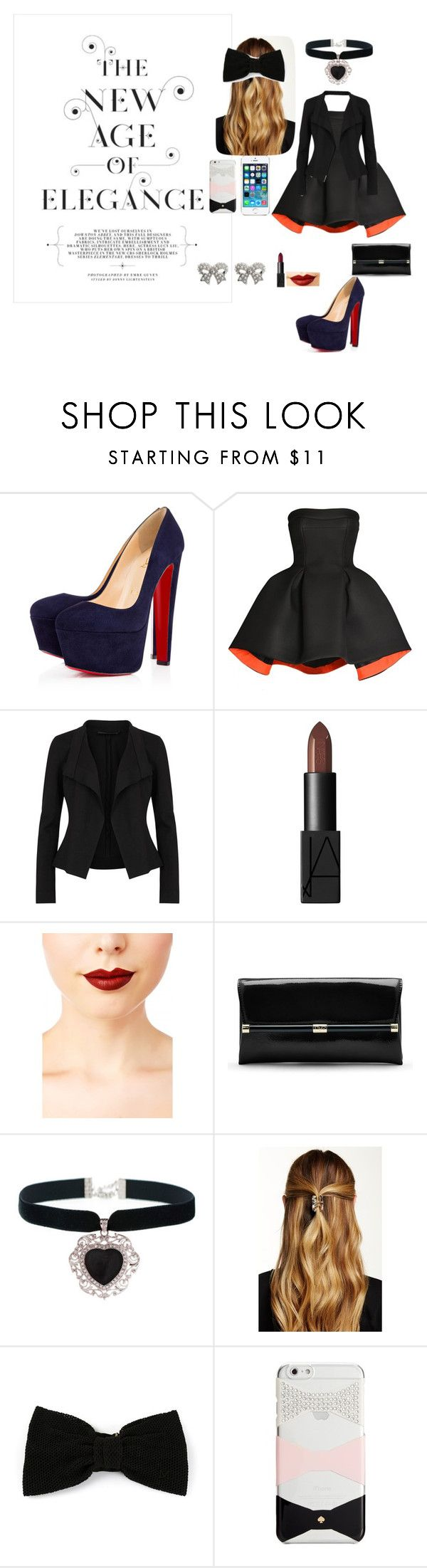 """the new age of elegance"" by blahblah-lv ❤ liked on Polyvore featuring Christian Louboutin, Parlor, Donna Karan, FingerPrint Jewellry, NARS Cosmetics, Jeffree Star, Diane Von Furstenberg, Rock 'N Rose, Natasha Accessories and Maison Michel"