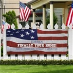 Personalized Military Welcome Home Banner - American Flag