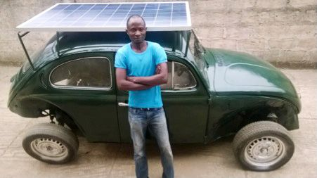 Now THAT is one clever hybrid car idea! Nigerian student builds a Wind- And Solar-Powered Car From Scraps   Co.Exist   ideas + impact