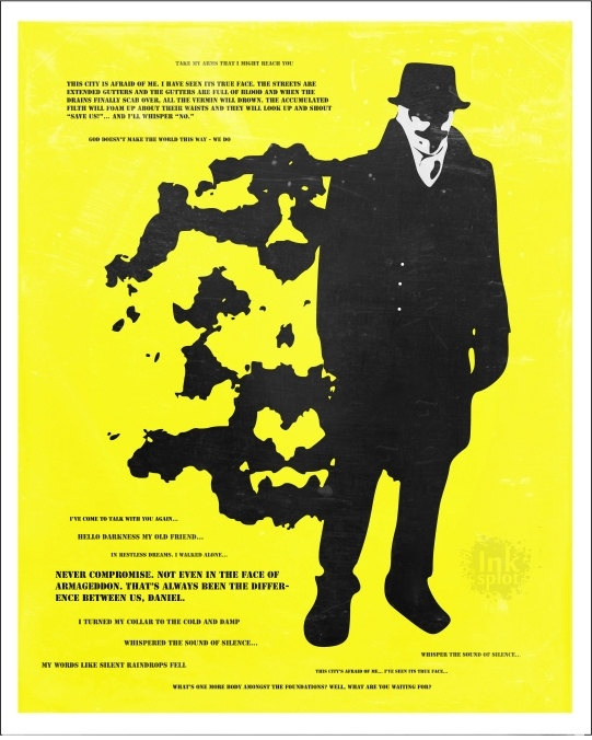 watchmen rorschach original poster art print favorite quotes