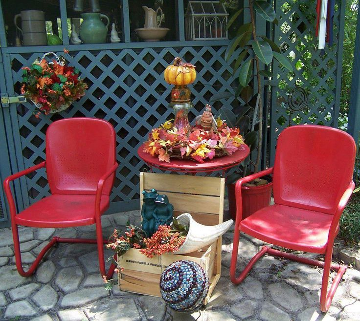 169 Best Images About Vintage Metal Porch Chairs On