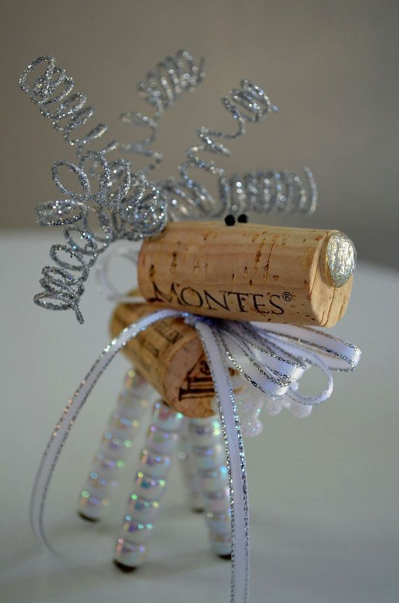 Reindeer+Holiday+Ornaments+by+TheCorkForest+on+Etsy,+$6.00